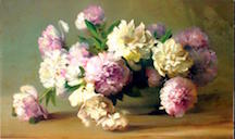 Peonies in a Bowl 1885
