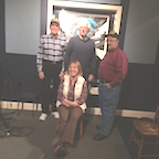 Christy Billings, seated. Standing from left, Vance Fisher, Jim Masso, and Harvey Goldstein.